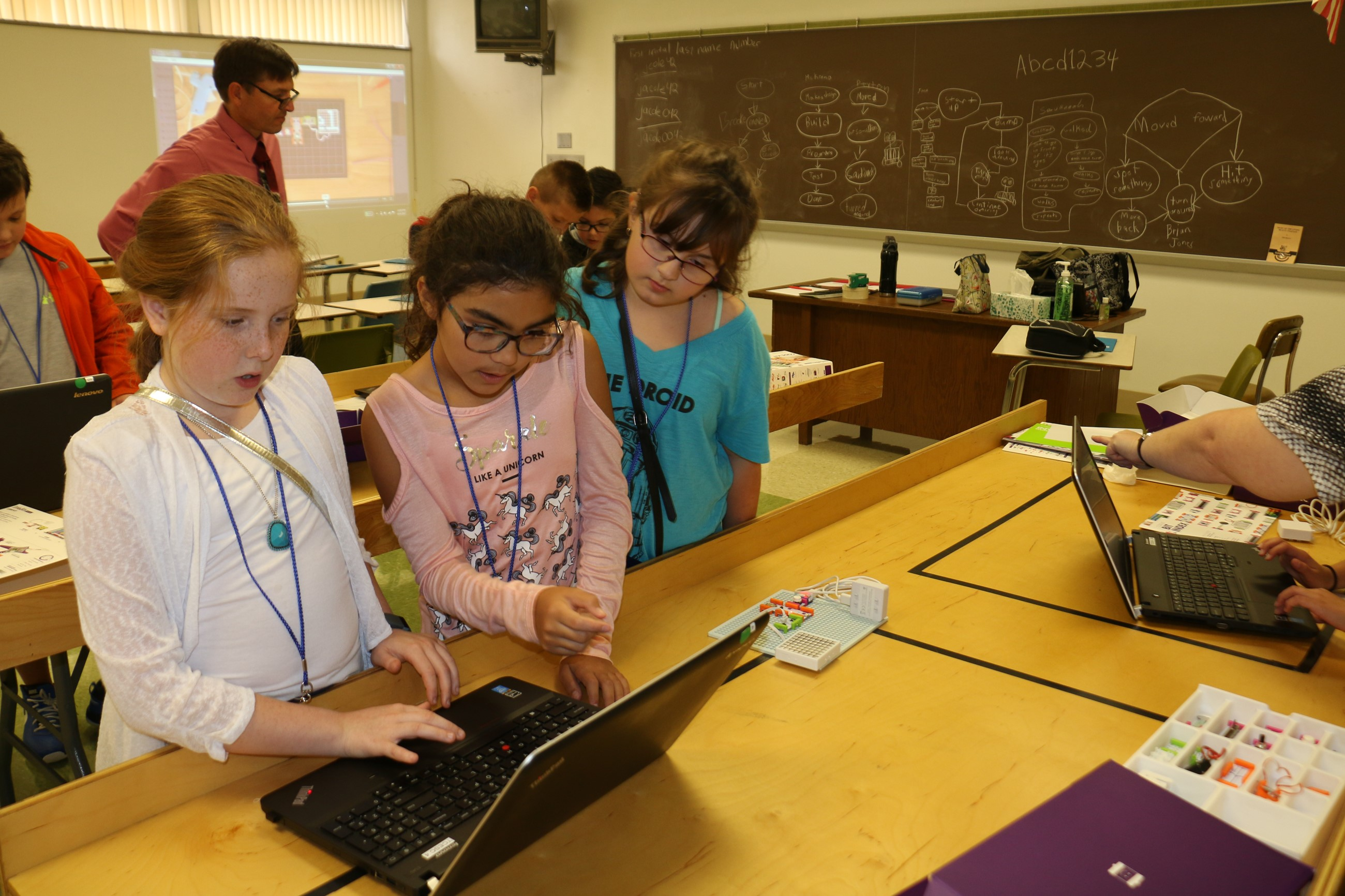 STEAM Powered Learning students learn experiment with computer coding.