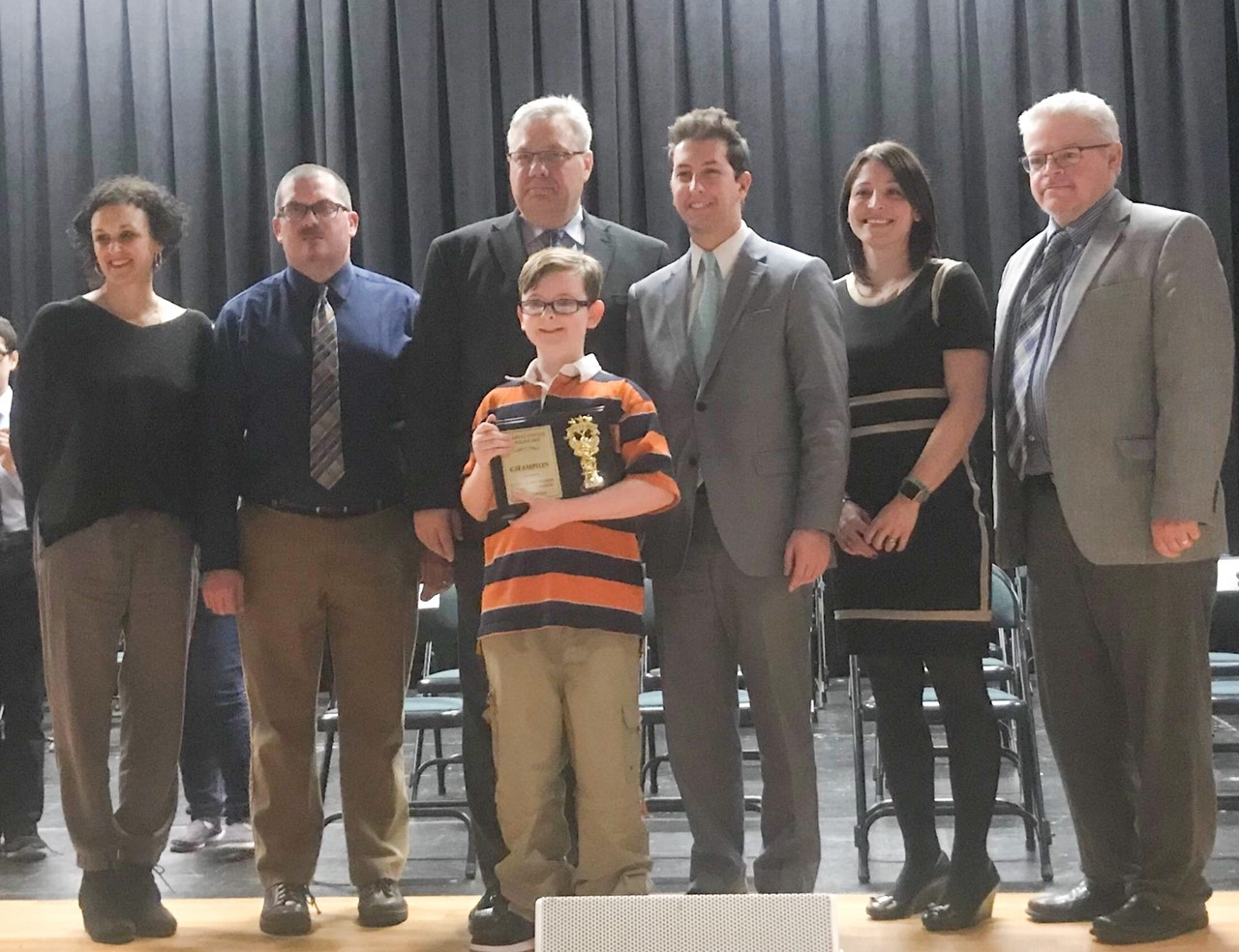 Brian Burkey Jr. of Howland claims title at TCESC spelling bee