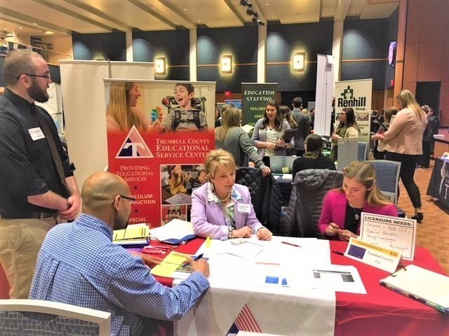 TCESC attends the Kent State University teacher recruitment fair and the Northeast Ohio Teacher Education Day in Akron.