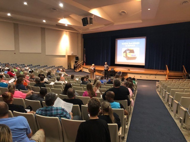 TCESC welcomed over 150 people to its annual bus driver training at Lakeview High School