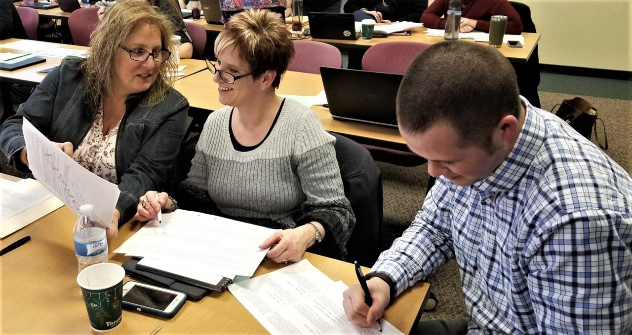 TCESC & TCTC staff work on new teacher evaluation system with ODE.