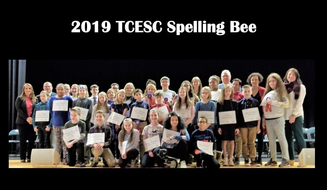 2019 TCESC Spelling Bee participants