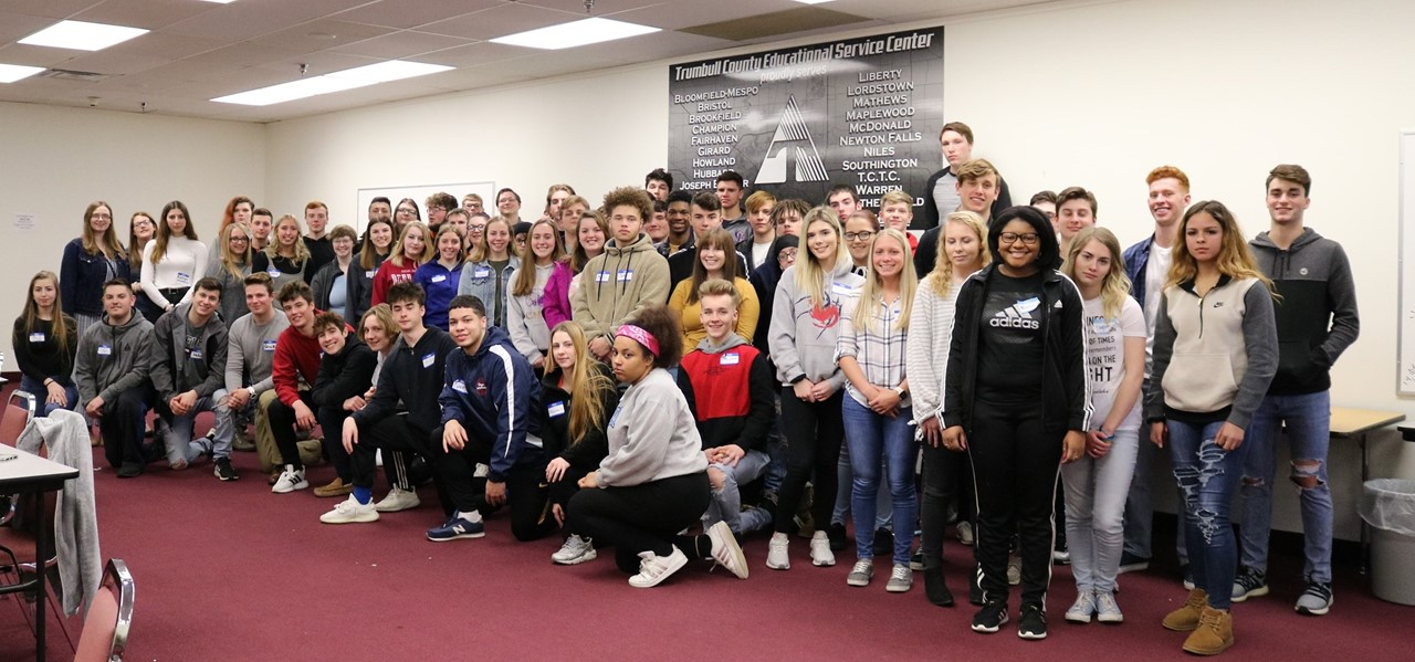 Trumbull students gather at TCESC for JA/AT&T Job Shadowing event