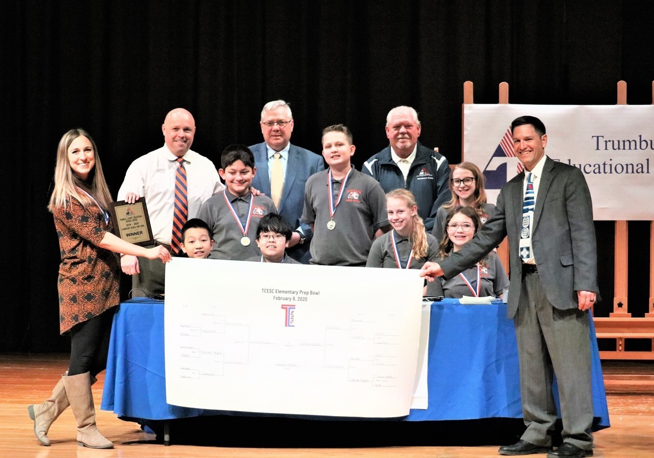 Congratulations Howland Middle School: Winner of the TCESC 2020 Elementary Prep Bowl!