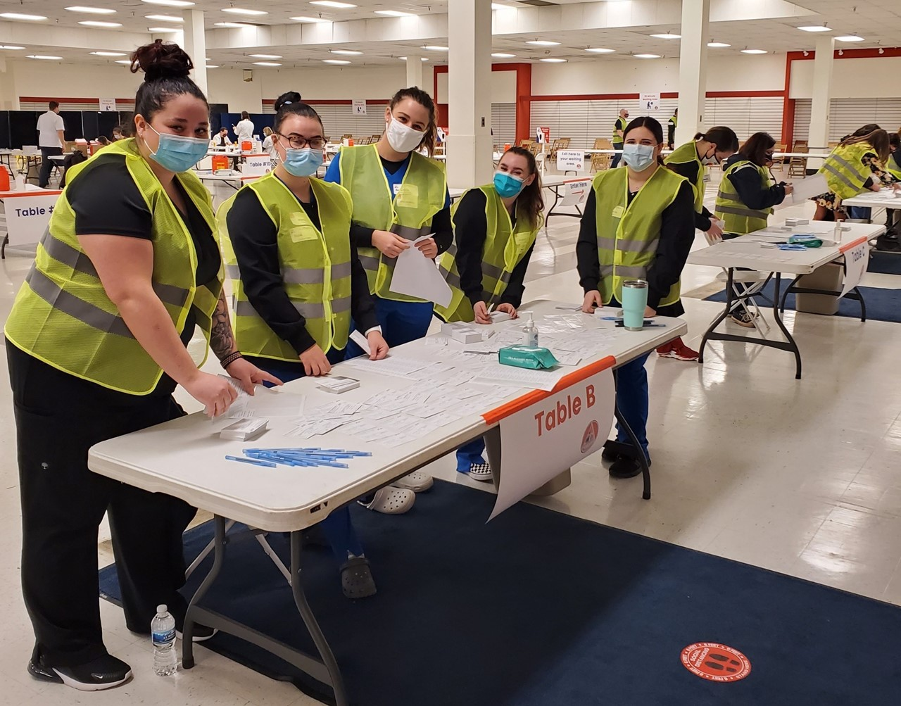 Volunteers, including school nurses from across Trumbull County and students in the TCTC nursing program, helped make the Feb. 26 TCESC/Discount Drug Mart Vaccination Clinic the success it was: With more than 2,300 school employees vaccinated!