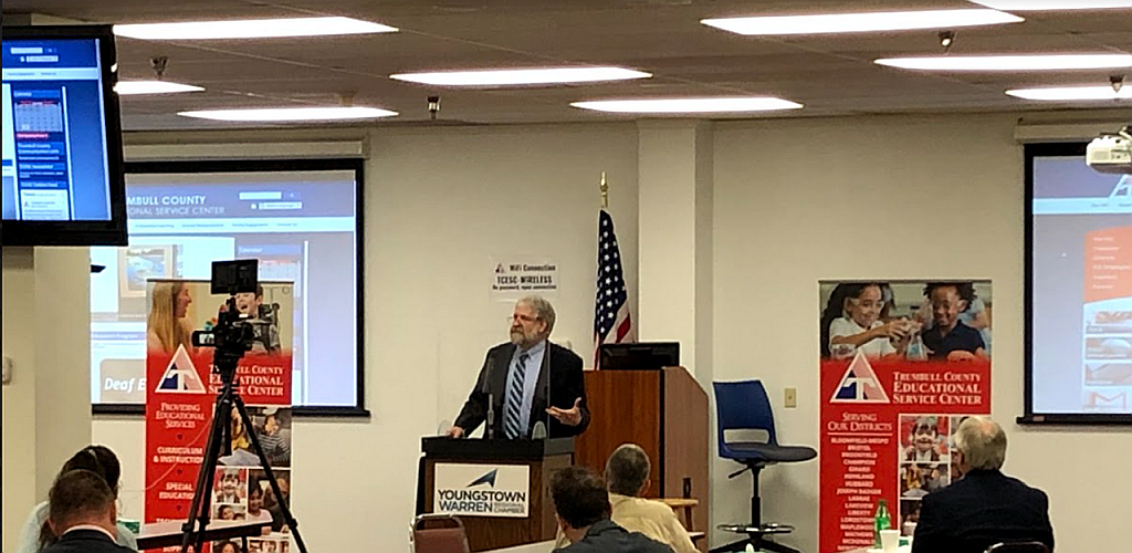 Youngstown-Warren Regional Chamber, hosting Lattes & Legislators (Speaking: Paolo DeMaria  Ohio's Superintendent of Public Instruction)