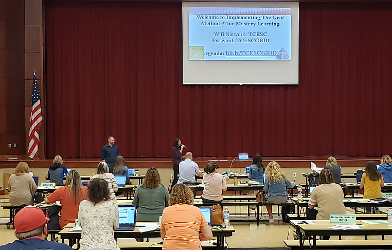 Summer of Growth 2021 - Amy Rossler, of the C&I Dept., speaking to teachers regarding Mastery L