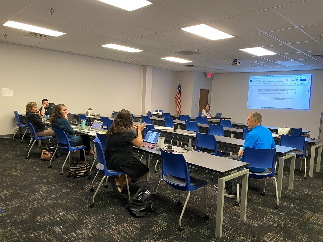 TCESC Curriculum & Instruction Specialists meet with Girard Schools' Administrative Team for Data Days 2021.