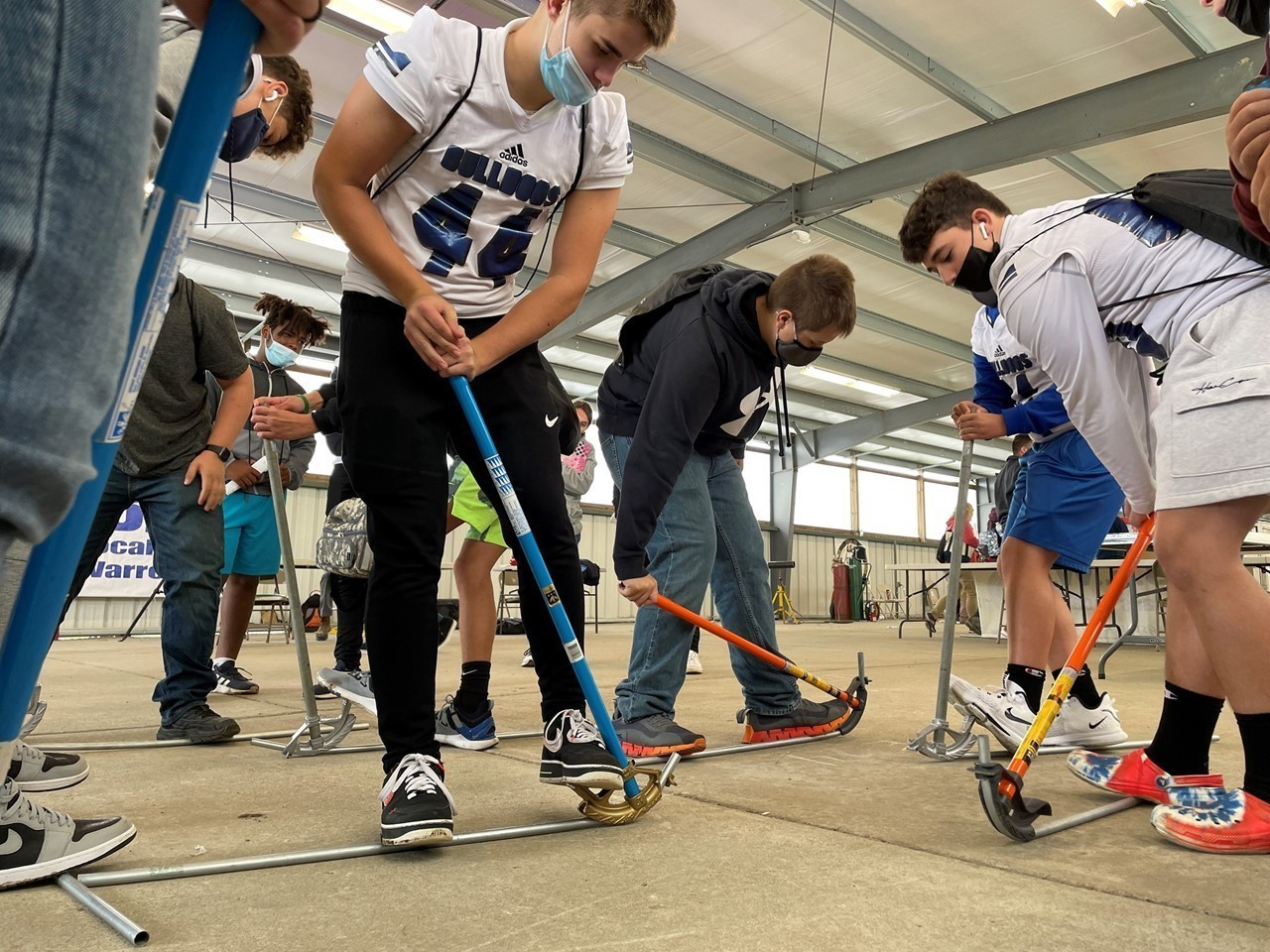 Trumbull County students learn how to bend pipes at the MV Skilled Trades Expo